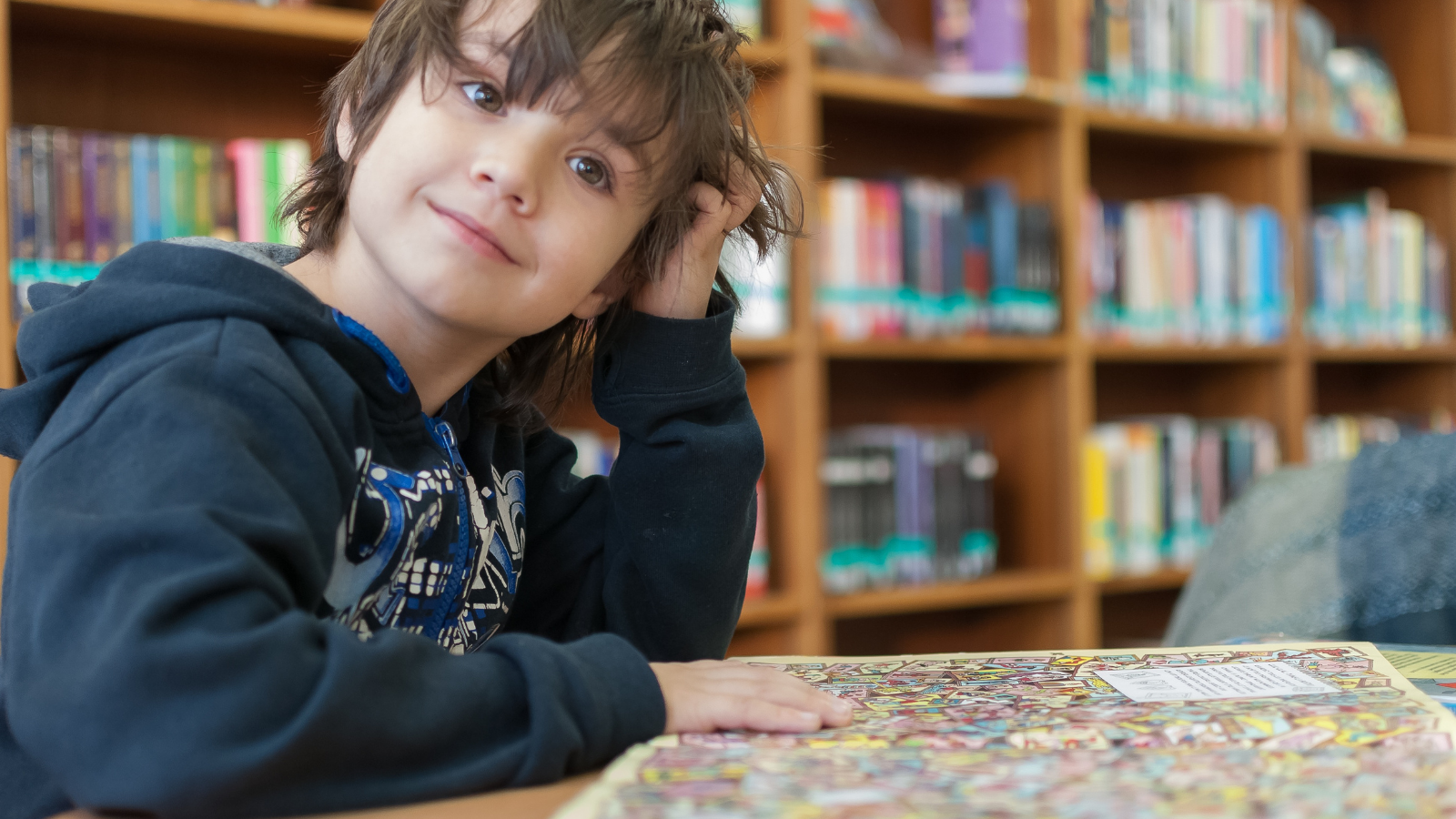 Image of Child in Library